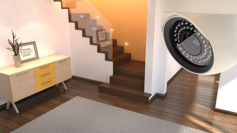 دوربین مدار بسته داخل منزل شخصی